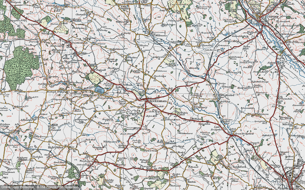Old Map of Eccleshall, 1921 in 1921