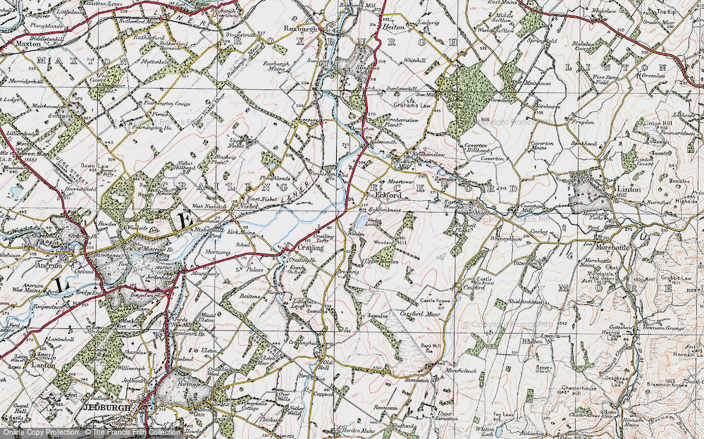 Old Map of Historic Map covering Wooden Loch in 1926