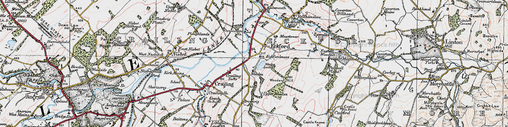 Old map of Wooden Loch in 1926