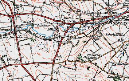 Old map of Ecklands in 1924