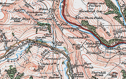 Old map of Woodlands Valley in 1923