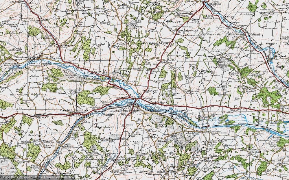 Old Map of Eddington, 1919 in 1919