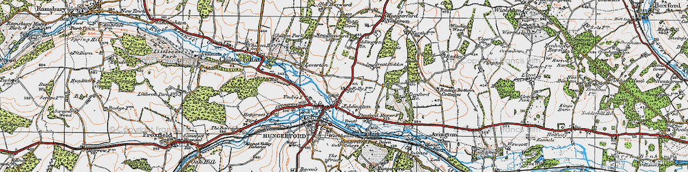 Old map of Eddington in 1919