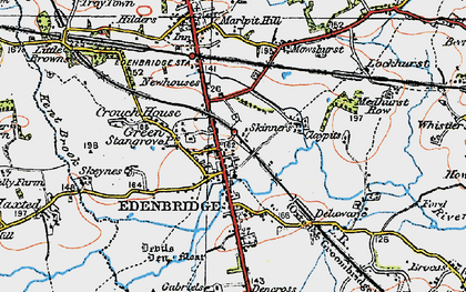 Old map of Edenbridge in 1920