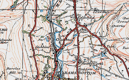 Old map of Edenfield in 1924