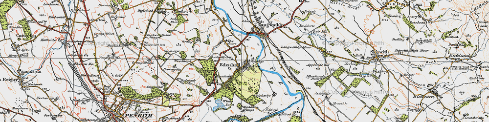 Old map of Whinsfield in 1925