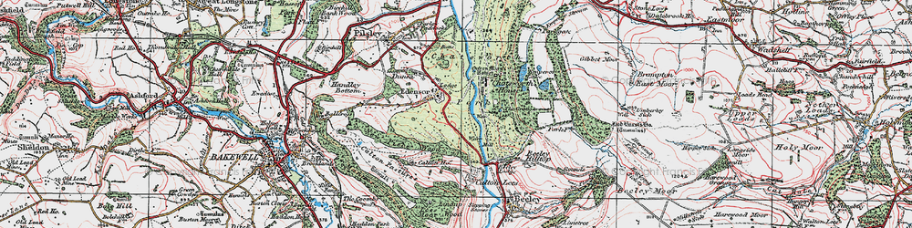 Old map of Edensor in 1923