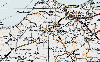 Old map of Aber Geirch in 1922