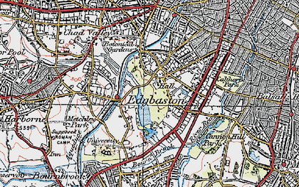 Old map of Edgbaston in 1921