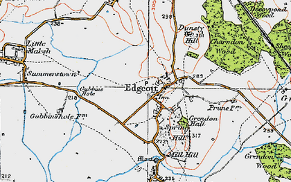 Old map of Edgcott in 1919