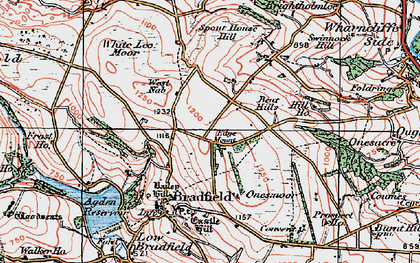 Old map of White Lee Moor in 1923