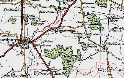 Old map of Wytheford Wood in 1921