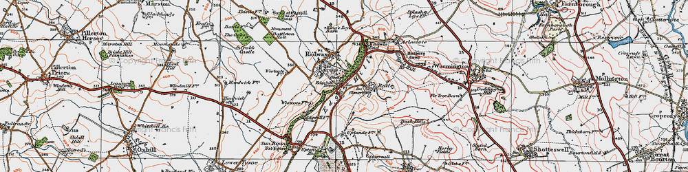 Old map of Westcote Manor in 1919