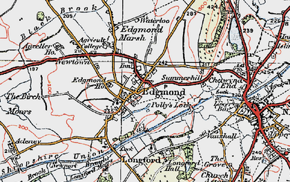 Old map of Edgmond in 1921