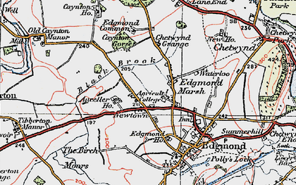Old map of Anceller Ho in 1921