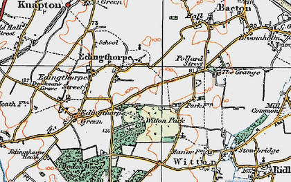 Old map of Witton Hall in 1922