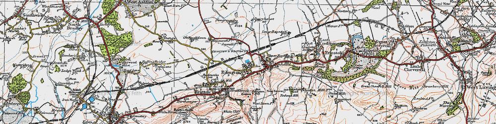 Old map of Edington in 1919