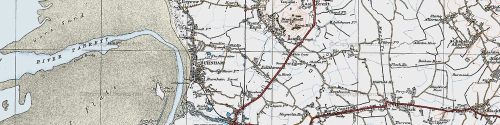 Old map of Worston Ho in 1919