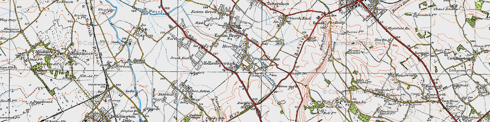 Old map of Edlesborough in 1920
