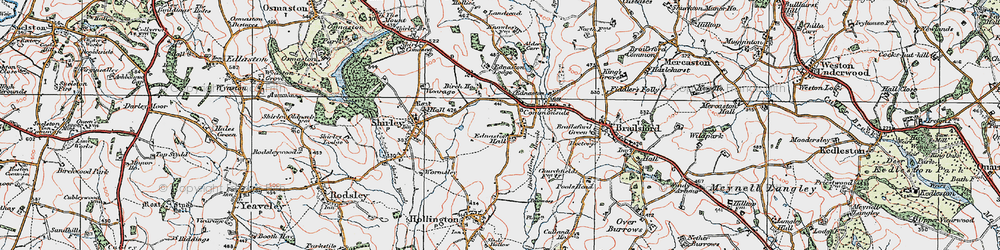 Old map of Alder Carr in 1921