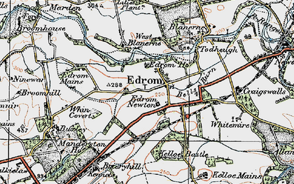 Old map of Whin Covert in 1926