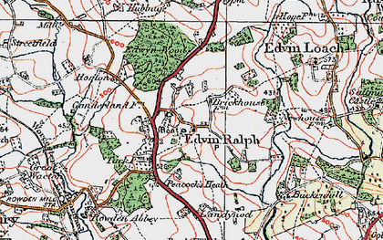 Old map of Winslow Grange in 1920