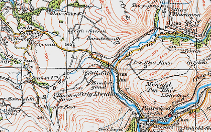 Old map of Baradychwallt in 1923