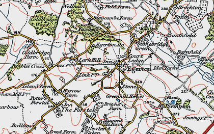 Old map of Egerton in 1921