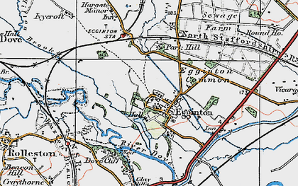 Old map of Egginton in 1921