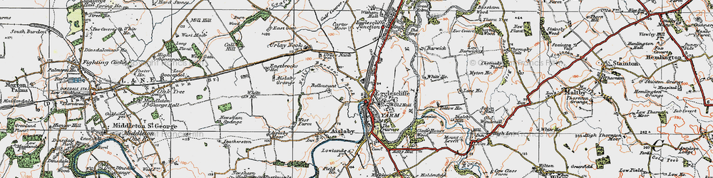 Old map of Allens West Sta in 1925