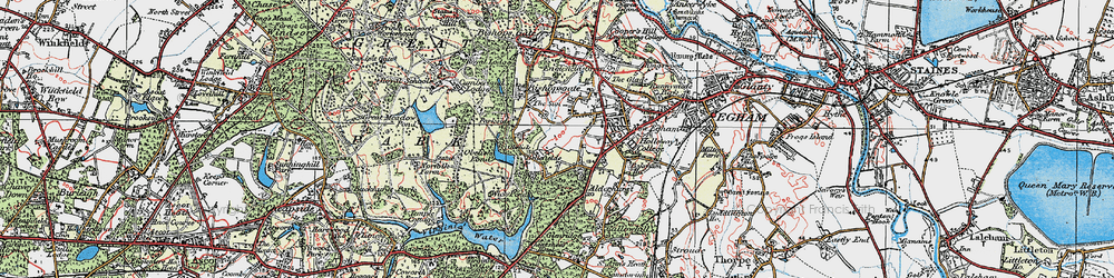Old map of Wick Pond in 1920