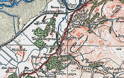 Old map of Ynys-hir Nature Reserve in 1922