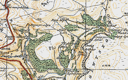 Old map of Eglwyseg in 1921