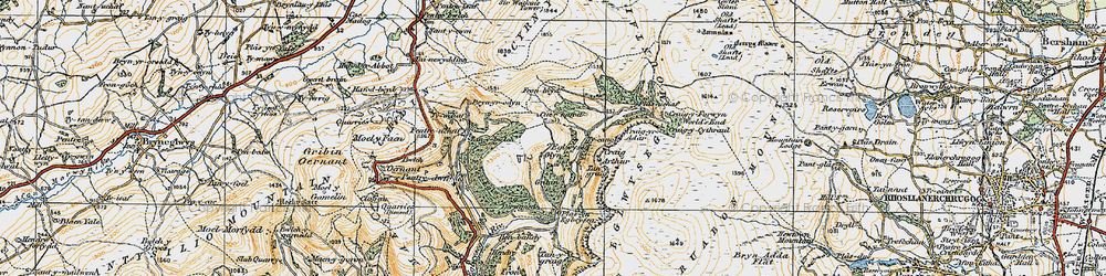 Old map of World's End in 1921