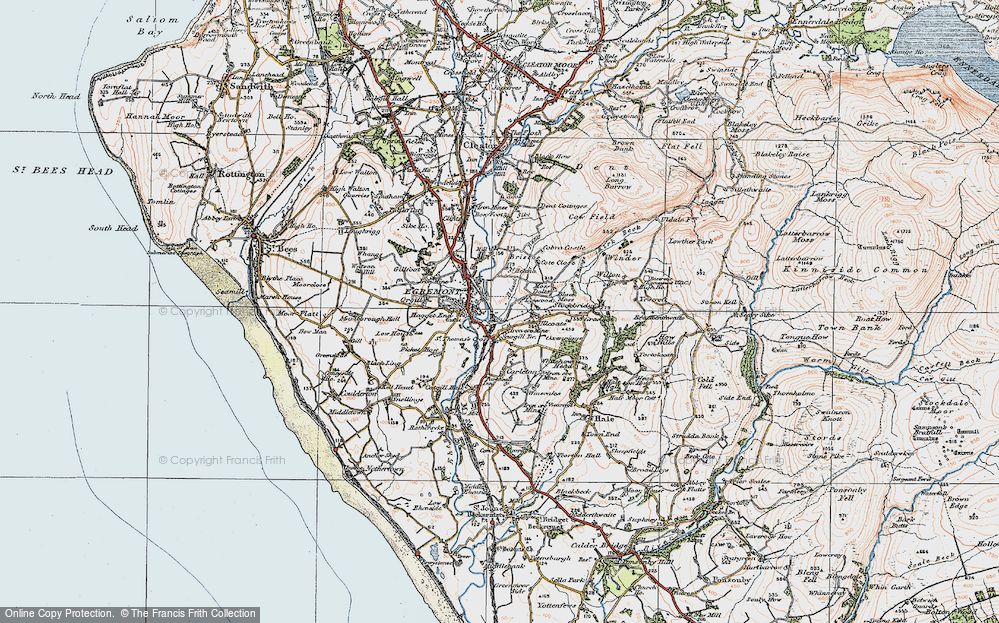 Old Map of Egremont, 1925 in 1925