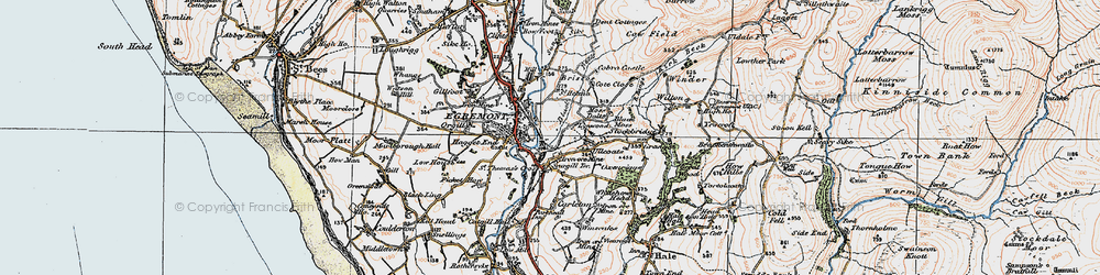 Old map of Egremont in 1925