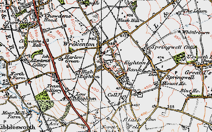 Old map of Eighton Banks in 1925