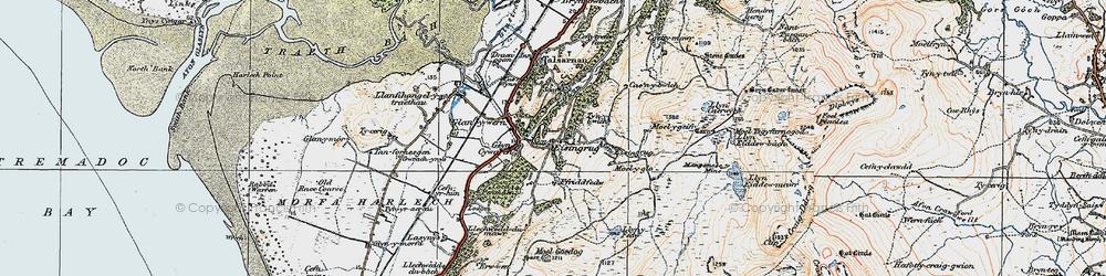 Old map of Eisingrug in 1922