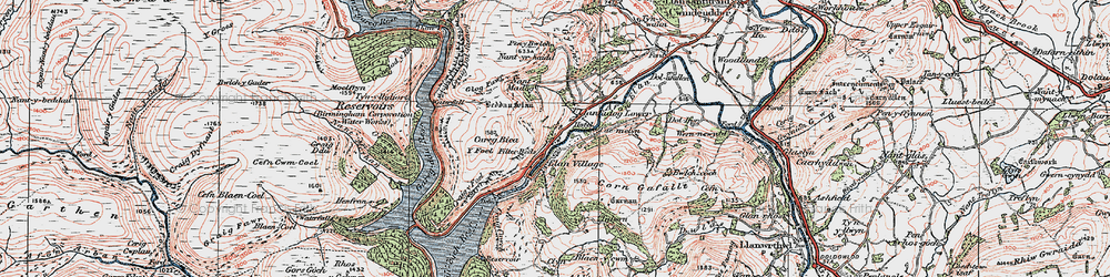 Old map of Y Gurn in 1923