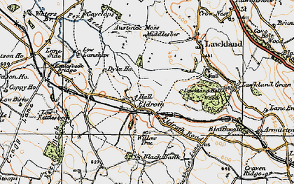 Old map of Accerhill Hall in 1924