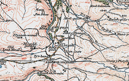 Old map of Elerch in 1922