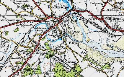 Old map of Tide Mill in 1919