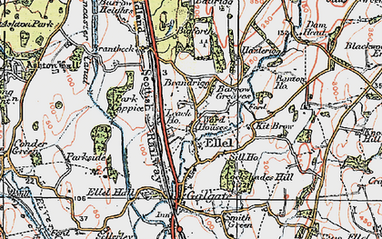 Old map of Banton Ho in 1924