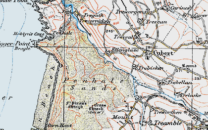Old map of Ellenglaze in 1919