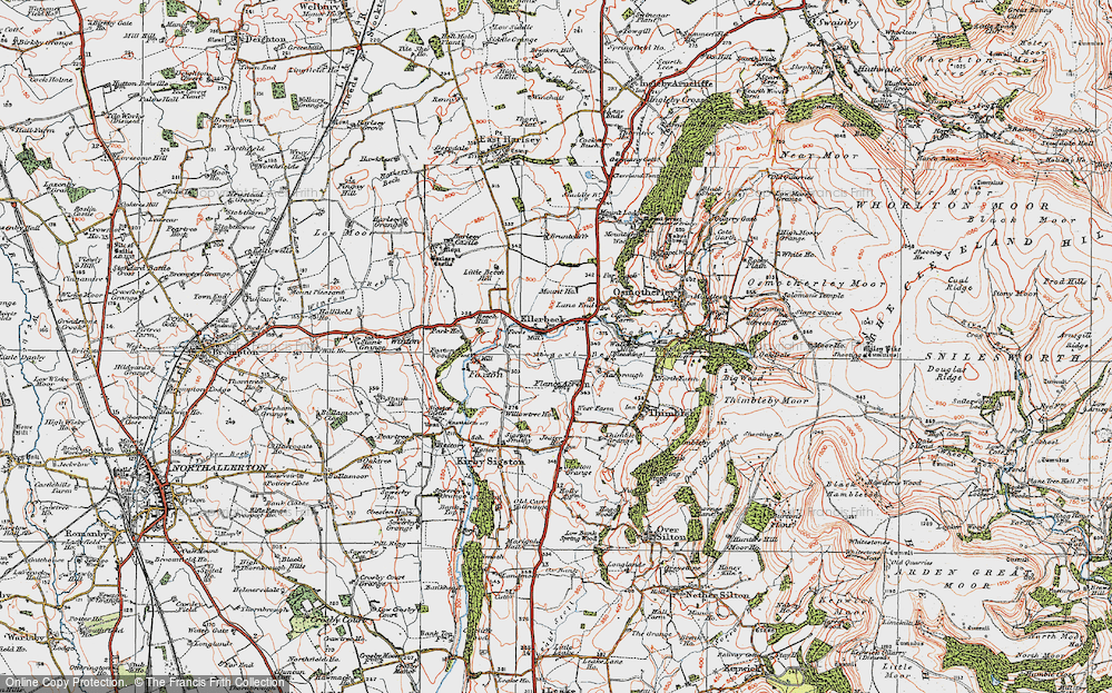 Old Map of Historic Map covering Lane End in 1925