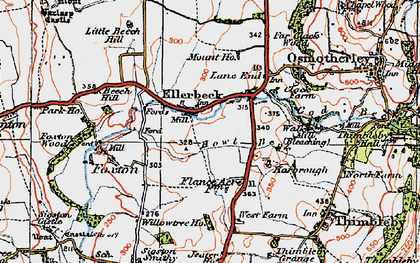 Old map of Lane End in 1925