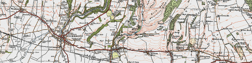 Old map of Wilton Heights Plantn in 1925