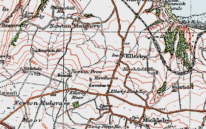 Old map of Ellerby in 1925