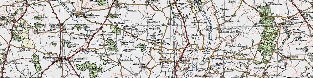 Old map of Windy Oak in 1921