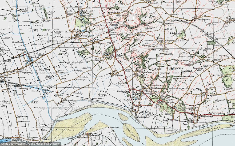 Old Map of Ellerker, 1924 in 1924
